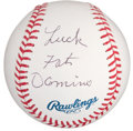 Baseball Collectibles:Others, Fats Domino Single Signed Baseball....