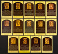 Baseball Collectibles:Others, Baseball Hall of Famers Signed Plaque Postcards Lot of 14....