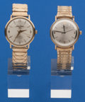 Timepieces:Wristwatch, Two Hamilton Gold Filled Wristwatches. ... (Total: 2 Items)
