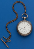 Timepieces:Pocket (pre 1900) , Waltham Coin Silver 18 Size Key Wind Pocket Watch. ...