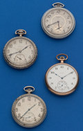 Timepieces:Pocket (post 1900), Four Elgin's 12 Size Pocket Watches. ... (Total: 4 Items)