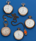 Timepieces:Pocket (post 1900), A Lot of Five 16 Size Pocket Watches. ... (Total: 5 Items)