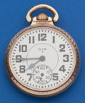 Timepieces:Pocket (post 1900), Elgin 21 Jewel B.W. Raymond Gold Flash Movement Pocket Watch. ...