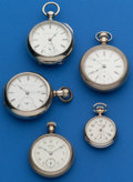 Timepieces:Pocket (post 1900), Grab Bag of Five Pocket Watches. ... (Total: 5 Items)