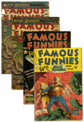 Golden Age (1938-1955):Miscellaneous, Famous Funnies #211, 212, and 215 Group (Eastern Color, 1954).... (Total: 4 Comic Books)