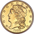 Early Half Eagles, 1830 $5 --Repaired, Improperly Cleaned--NCS. AU Details. Small 5D, Breen-6492, BD-2, High R.5....