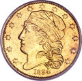 Early Half Eagles, 1834 $5 Capped Head, Crosslet 4 PCGS Genuine. Breen-6500, BD-2, R.5....