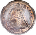 Seated Dollars, 1852 $1 --Artificial Toning--NGC Details. AU....