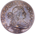 Early Half Dollars, 1801 50C AU53 PCGS. CAC. O-102, High R.4....