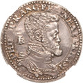 Italy: , Italy: Naples. Philip II of Spain 1/2 Ducato ND (1554-98),...