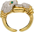 Estate Jewelry:Bracelets, Diamond, Emerald, Platinum, Gold Bracelet, David Webb. ...