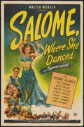 "Movie Posters:Adventure, Salome, Where She Danced Lot (Universal, 1945). One Sheet (27"" X41"") and Oversize Herald Brochure (4 Page foldout, 10"" X 13...(Total: 2 Items)"