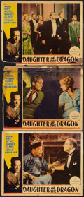 "Movie Posters:Crime, Daughter of the Dragon Lot (Paramount, 1931). Lobby Cards (3) (11""X 14"") Pressbook (9"" X 12"") and Pressbook Page . Crime.. ...(Total: 3 Items)"