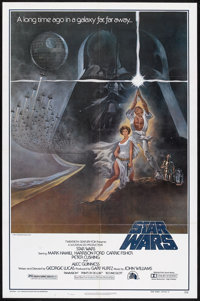 "Star Wars (20th Century Fox, 1977). One Sheet (27"" X 41"") Style A and Lobby Card (11"" X 14""). Scienc..."