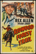 "Movie Posters:Western, Redwood Forest Trail (Republic, 1950). One Sheet (27"" X 41"").Western.. ..."