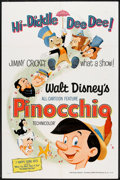 "Movie Posters:Animated, Pinocchio (Buena Vista, R-1971). One Sheet (27"" X 41""). Animated....."