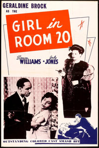 "The Girl in Room 20 (Astor Pictures, 1946). One Sheet (28"" X 42""). Black Films"