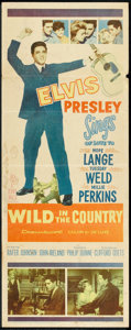 "Movie Posters:Elvis Presley, Wild in the Country (20th Century Fox, 1961). Insert (14"" X 36"").Elvis Presley.. ..."