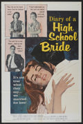 "Movie Posters:Exploitation, Diary of a High School Bride (American International, 1959). OneSheet (27"" X 41""), and Lobby Card Set of 8 (11"" X 14""). Exp...(Total: 9 Items)"