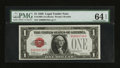Small Size:Legal Tender Notes, Low Serial Number Fr. 1500 $1 1928 Legal Tender Note. PMG Choice Uncirculated 64 EPQ.. ...