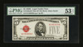 Small Size:Legal Tender Notes, Fr. 1530 $5 1928E Mule Legal Tender Note. PMG About Uncirculated 53 EPQ.. ...