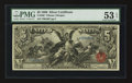 Large Size:Silver Certificates, Fr. 268 $5 1896 Silver Certificate PMG About Uncirculated 53 EPQ.....