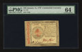 Colonial Notes:Continental Congress Issues, Continental Currency January 14, 1779 $70 PMG Choice Uncirculated 64.. ...