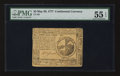 Colonial Notes:Continental Congress Issues, Continental Currency May 20, 1777 $2 PMG About Uncirculated 55EPQ.. ...
