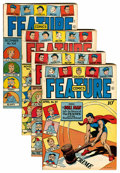 Golden Age (1938-1955):Miscellaneous, Feature Comics Group (Quality, 1946) Condition: VF.... (Total: 4 Comic Books)
