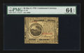 Colonial Notes:Continental Congress Issues, Continental Currency May 9, 1776 $6 PMG Choice Uncirculated 64EPQ.. ...