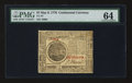 Colonial Notes:Continental Congress Issues, Continental Currency May 9, 1776 $7 PMG Choice Uncirculated 64.. ...