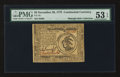 Colonial Notes:Continental Congress Issues, Continental Currency November 29, 1775 $3 PMG About Uncirculated 53EPQ.. ...