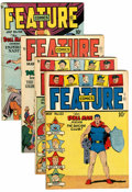 Golden Age (1938-1955):Miscellaneous, Feature Comics Group (Quality, 1948-49) Condition: Average FN/VF.... (Total: 4 Comic Books)