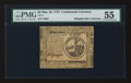 Colonial Notes:Continental Congress Issues, Continental Currency May 10, 1775 $2 PMG About Uncirculated 55.....