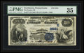 National Bank Notes:Pennsylvania, Norristown, PA - $10 1882 Value Back Fr. 577 The Peoples NB Ch. #(E)2581. ...