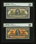 Canadian Currency: , BC-25b $20 1937;. BC-26b $50 1937.. ... (Total: 2 notes)
