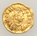 Ancients:Byzantine, Ancients: Zeno (AD 475-491) and Phocas (AD 602-610). Lot of twogold fractions.... (Total: 2 coins)