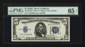 Small Size:Silver Certificates, Fr. 1654* $5 1934D Wide I Silver Certificate. PMG Gem Uncirculated 65 EPQ.. ...