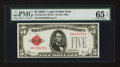 Small Size:Legal Tender Notes, Fr. 1526 $5 1928A Legal Tender Note. PMG Gem Uncirculated 65 EPQ.. ...