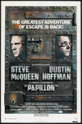 """Movie Posters:Drama, Papillon Lot (Allied Artists, R-1977). One Sheets (2) (27"""" X 41""""), Three Sheet (41"""" X 81""""), and German A1 (23"""" X 33""""). Drama... (Total: 4 Items)"""