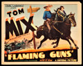 "Movie Posters:Western, Flaming Guns (Universal, 1932). Title Lobby Card (11"" X 14""). Western.. ..."