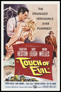 "Touch Of Evil (Universal International, 1958). Autographed One Sheet (27"" X 41""). Film Noir"