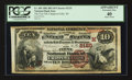National Bank Notes:Wisconsin, Chippewa Falls, WI - $10 1882 Brown Back Fr. 485 The First NB Ch. # (M)2125. ...
