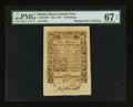 Colonial Notes:Rhode Island, Rhode Island May 1786 40s PMG Superb Gem Unc 67 EPQ.. ...