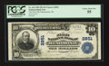 National Bank Notes:Wisconsin, Menomonie, WI - $10 1902 Plain Back Fr. 624 The First NB Ch. # 2851. ...