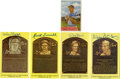 Baseball Collectibles:Others, Baseball Hall of Famers Signed Cards and Hall of Fame PlaquePostcards Lot of 5....