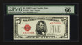 Small Size:Legal Tender Notes, Fr. 1531* $5 1928F Wide I Legal Tender Note. PMG Gem Uncirculated 66 EPQ.. ...