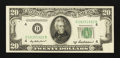 Error Notes:Obstruction Errors, Fr. 2061-D $20 1950B Federal Reserve Note. Choice Crisp Uncirculated.. ...