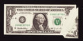 Error Notes:Foldovers, Fr. 1921-D $1 1995 Federal Reserve Note. Choice AboutUncirculated.. ...