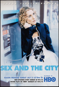 """Sex and the City HBO Television Lot (HBO, 2002). One Sheets (2) (27"""" X 40"""") Sarah Jessica Parker Style A &..."""